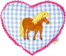 Kuschelkissen Mein kleiner Ponyhof, blau
