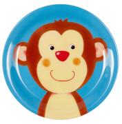 Kleiner Melamin-Teller Affe Freche Rasselbande