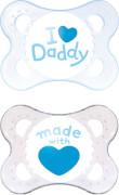 MAM Original Silikon I love Daddy 0-6 Monate boy