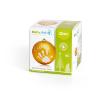 Baby Art Christmas Ball gold