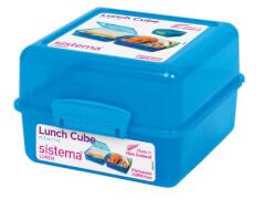 Lunch Cube blau 1,4l, 3-fach unterteilt