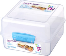 Sistema Lunch Cube To Go, 1,4 l, 3-fach unterteilt, blau