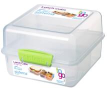 Lunch Cube To Go grün, 1,4l, 3.fach unterteilt