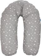 Fillikid Stillkissen Sterne, grau, 180 cm