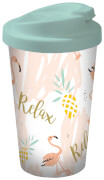 Flamingo Coffee to go Becher Relax, 400 ml