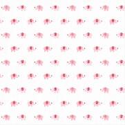 Die Spiegelburg - BabyGlück Mulltuch Elefanten rosa, ca. 120x120 cm, 100% Baumwolle, waschbar bei 60°C