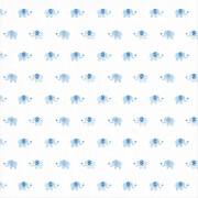 Die Spiegelburg - BabyGlück Mulltuch Elefanten hellblau, ca. 120x120 cm, 100% Baumwolle, waschbar bei 60°C