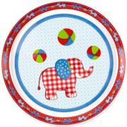 Die Spiegelburg - BabyGlück Melamin-Teller Elefant,  # ca. 19 cm, Bisphenol A frei