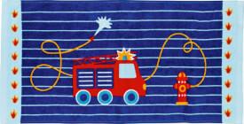 Die Spiegelburg 14331 Wenn ich mal groß bin - Zauberhandtuch ''Feuerwehr'', Baumwolle, ca. 60x30 cm