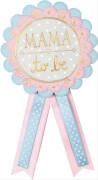 Die Spiegelburg - Baby Shower Kokarde, pastell blau und rosa