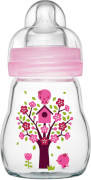 MAM Feel Good Glass Bottle Mädchen, 170 ml