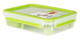 Emsa 518099 CLIP & GO Brunchbox transparent, 1,20 l