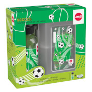 Emsa 518140 Tritan-Trinkflasche mit Brotdose Soccer