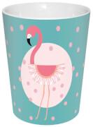 Flamingo Becher Türkis+Punkte