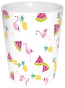 Flamingo Becher Früchte