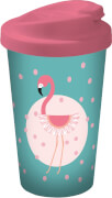 Flamingo Coffee to go Becher Türkis+Punk