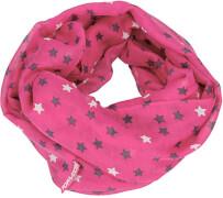 Depesche 6390 TOPModel Loopschal, Sterne, pink