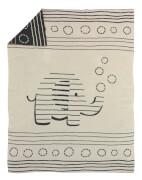 ALVI Baumwolldecke gestrickt Streifenfant, 75 x 100 cm