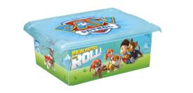 Keeeper Kids Aufbewahrungsbox Filip Paw Patrol, 10 l, blau-transparent