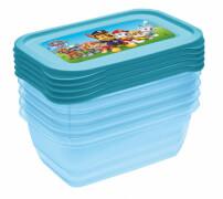 Keeeper Kids Aufbewahrungsbox Iza Paw Patrol Set, 5 x 0,5 l, blau-transparent