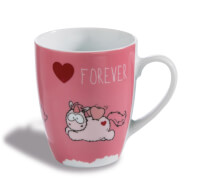 NICI Tasse Merry Heart FOREVER Porzellan, ca. 8x10 cm
