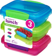 Sistema Lunchbox 200 ml, 3er-Set pink, grün,blau