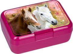 Die Spiegelburg - Butterbrotdose Pferdefreunde, pink