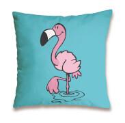 Kissen Flamingo stehend, rosa