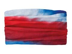 Multifunktionstuch Batik blau-rot