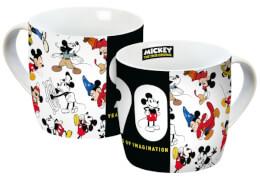 Tasse Disney Mickey 90 Jahre Muster, 300ml, Porzellan