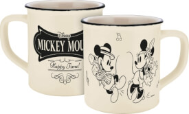 Tasse Disney Mickey&Minnie Vintage Happy Emaille-Optik, 400ml, Keramik