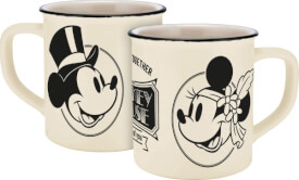 Tasse Disney Mickey&Minnie Vintage Forever Emaille-Optik, 400ml, Keramik