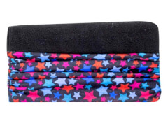 Multifunktionstuch Fleece Stars-schwarz (6)