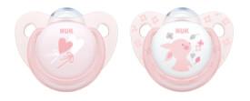 NUK Baby Rose Silikon-Schnuller Gr. 1