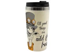 Coffee to go Becher Vintage Giraffe Bambus, 400ml