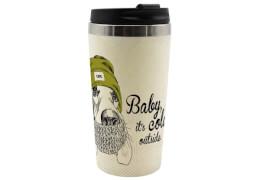 Coffee to go Becher Vintage Hund Bambus, 400ml
