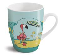 Tasse Flamingo Lebenskünstler Porzellan