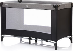 Fillikid Reisebett Basic, ca. 125x65 cm, grau-schwarz
