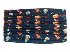 Multifunktionstionstuch Astronauten blau