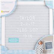 Letterboard Buchstabentafel-Set, grau