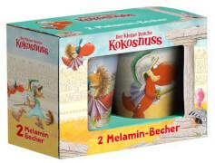 Die farbig bedruckten Melaminbecher sind stapelbar und durch die hochwertige Qualität besonders stab