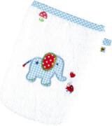 Waschhandschuh BabyGlück, hellblau (Elefant)