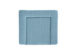Träumeland Wickelauflage Tropfen ozeanblau PVC-frei, 75 x 85 cm