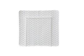 Träumeland Wickelauflage weiß mit grauen Sternen PVC-frei, 75 x 85 cm