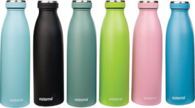 Sistema Edelstahl-Trinkflasche, 500 ml, sortiert