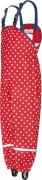Regenlatzhose mit Punkten Gr. 92 rot
