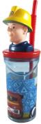 p:os 27543 Feuerwehrmann Sam, Trinkbecher 3D Figur