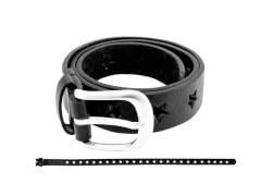 Gürtel Sternchen schwarz 65 cm