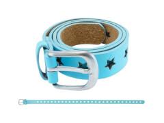 Gürtel Sternchen blau 60 cm