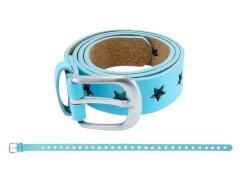 Gürtel Sternchen blau 75 cm